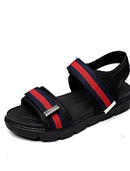 Boys' Sandals Comfort PVC Summer Fall Casual Walking Comfort Hook & Loop Flat Heel Blue Green Black Under 1in