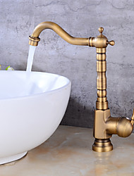 Tall/­High ArcAntique Copper , Bathroom Sink Faucet