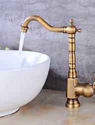 Tall/High ArcAntique Copper , Bathroom Sink Faucet