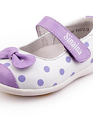 Girls' Flats First Walkers Other Animal Skin Spring Fall Casual Walking First Walkers Magic Tape Low Heel Blushing Pink Blue Purple Flat