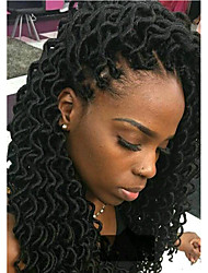1pack black godess locs Soft dreadlocs crochet braids with curly end kanekalon fauxlocs hair extension synthetic braiding hair 5pack for a head