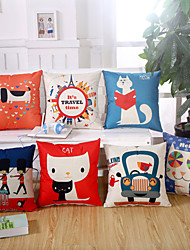 6 Design Cartoon Printing Animal Pillow Case Cotton/Linen Pillow Cover