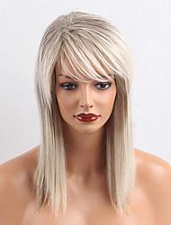 Ombre цвет длинные прямые человеческие волосы парики для женщины