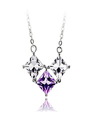 May Polly Fashion Zircon Pendant Necklace