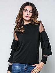 Tee-shirt Femme,Couleur Pleine Anniversaire Quotidien Vêtements de Plein Air Rendez-vous Sortie Décontracté / Quotidien simple Chic de Rue
