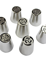 7PCS Stainless Steel Russian Tulip Icing Piping Nozzle Decorating Tips Cake Cupcake Decorator