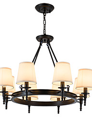 LightMyself 8 Lights Flush Mounted Fixture Chandelier One Light Two Style Modern/Contemporary Traditional/Classic Rustic Painting