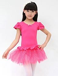 Balé Crianças Algodão Laço 1 Peça Vestido