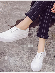 Women's Sneakers Comfort Canvas Spring Casual Screen Color Black White Flat