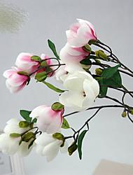 Magnolia Foreign Trade Wedding Household Adornment Handicraft Simulation Flowers Plants