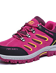 Women's Athletic Shoes Comfort Suede Spring Fall Athletic Flat Heel Fuchsia Purple Hiking Shoes