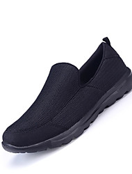 Men's Sneakers Gladiator Tulle Summer Fall Outdoor Casual Flat Heel Gray Dark Blue Black Flat