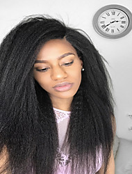 Premier®Kinky Straight Full Lace Human Hair Wigs-Glueless 130% Density 100% Unprocessed Brazilian Virgin Remy Full Lace Wigs with Baby Hair For Woman