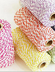 Colorful Rope Cotton 100 Yards/roll DIY Gift Packing Scrapbook Baloons Tassel Accessories Wedding Party Decoration 12 Colors
