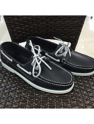 Men's Shoes PU Spring Comfort Boat Shoes For Casual White Blue Burgundy