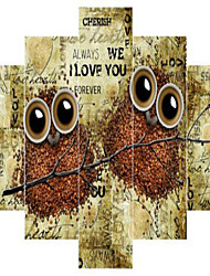 Художественная печать Животное Modern,5 панелей Горизонтальная Пигментная печать Декор стены For Украшение дома