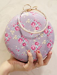 Women Evening Bag PU All Seasons Event/Party Casual Party & Evening Date Circle Magnetic Violet Light Purple