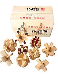 Jigsaw Puzzles Luban Lock Building Blocks DIY Toys Wooden