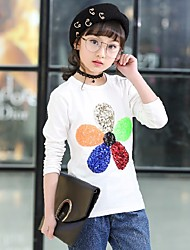 Flower Others Tee,Cotton Spring Long Sleeve