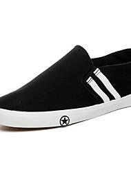 Men's Sneakers Canvas Spring White Black Flat