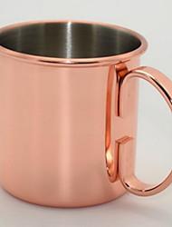 В помещении На каждый день Стаканы, 500 Нержавеющая сталь Телесный МолокоНеобычные чашки / стаканы Чайные чашки Бутылки для воды Кофейные