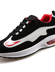 Men's Athletic Shoes PU Spring Summer Low Heel White Black Ruby Under 1in