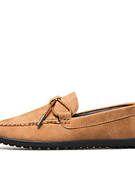 Men's Loafers & Slip-Ons Moccasin Suede Summer Fall Wedding Casual Outdoor Office & Career Party & Evening Moccasin Khaki Navy Blue Gray
