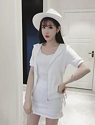 Blazer Jupe Costumes Femme Printemps Manches longues Micro-élastique