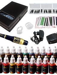 Solong tatouage sourcil kit machine de maquillage permanent tatouage 23 aiguille encre ek709-6