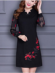 Women's Going out Casual/Daily Bodycon Dress,Solid Floral Strapless Mini Long Sleeve Silk Summer High Rise Micro-elastic Thin