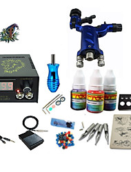 Begginer Tattoo Kit 1 Machine With Digital Power Cord Inks Switch G1C15R5