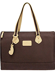 Kate&Co. simple fashion canvas bag bag bag ultra light coffee color 12 inch TH-04460