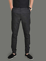 Men's Mid Rise strenchy Chinos Pants,Simple Loose Solid