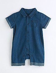 Baby Solid One-Pieces,Cotton Summer Short Sleeve