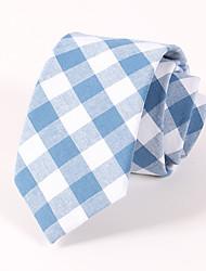 Men's Casual Fashion Personality Lattice Cotton Tie