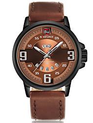 NAVIFORCE Pánské Sportovní hodinky Vojenské hodinky Módní hodinky Náramkové hodinky Hodinky na běžné nošení japonština KřemennýKalendář