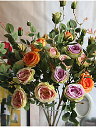 1  Bunch French romantic rose Artificial Flowers