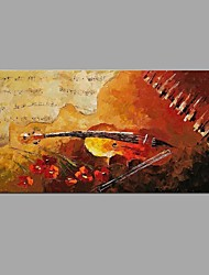 Handmade Oil Painting Abstract Music violin with Wall Art Home Decor Stretched Framed Ready To Hang SIZE50*100cm