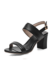 Damen Sandalen Pumps Kunstleder Sommer Kleid Pumps Kombination Blockabsatz Weiß Schwarz Purpur 2,5 - 4,5 cm