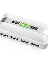 Haile hu-05 branco mini-quadrado 7port usb 2.0 hub com cabo de 80cm