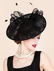 Lace Feather Headpiece-Special Occasion Outdoor Headbands Fascinators 1 Piece