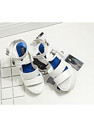 Feminino Saltos Shoe transparente Tricô Primavera Casamento Shoe transparente Branco Preto Rasteiro