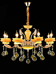 Lustre Alliage de Zinc Fonctionnalité for Cristal Style mini Métal Salle de séjour Chambre à coucher Bureau/Bureau de maison 8 Ampoules
