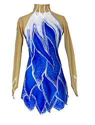 Robe de Patinage Femme Fille Patinage Jupes Robes Haute élasticité Robe de patinage artistique Garder au chaud Fait à la main Strass