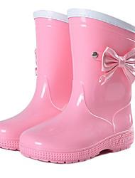 Girls' Flats Comfort Rubber Spring Fall Outdoor Casual Walking Magic Tape Low Heel Blushing Pink Flat
