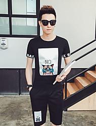 Tee-shirt Homme,Couleur Pleine Imprimé Motif Animal Bureau/Carrière Athlétique Autre Décontracté simple Chic de Rue Actif EtéManches