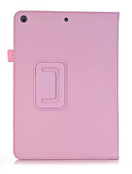 For ipad 2017 9.7inch Shockproof With Stand Flip Ultra-thin Magnetic Case Full Body Case Solid Color Hard PU Leather For Apple iPad 2017 iPad Air 2
