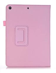 Para ipad 2017 9.7 polegadas à prova de choque com suporte flip ultra-fino caso magnético caso de corpo inteiro couro sólido couro duro