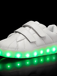 Kids Girls Boys' Sneakers Light Up Shoes TPU Summer Fall Casual Outdoor Light Up Shoes LED Low Heel Light Purple Black White Under 1in