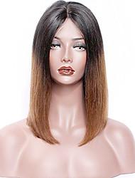 Premier® novo estilo laço direito frente ombre cabelo humano perucas-glueless 130% densidade 100% não processado brasileiro virgem remy